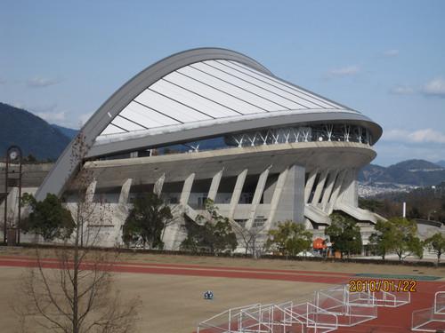 補助競技場から見たビッグアーチ 2010-01-22