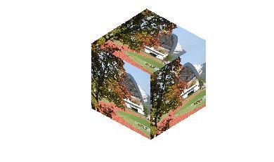 立方体へ貼り付け